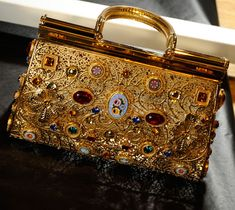 Dolce and Gabbanna Byzantine Mosaic - intricately etched jewelled handbags