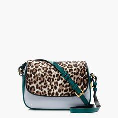 Signet flap bag in Italian calf hair