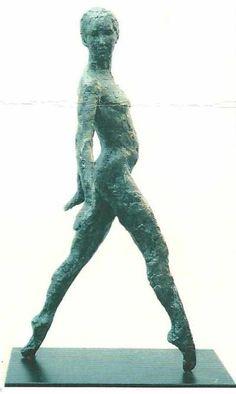 Bronze Resin #sculpture by #sculptor Diana Whelan titled: 'Dancer (Bronze resin Upright Under Lifesize sculptures)'. #DianaWhelan