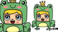 How To Draw a Frog Boy - Chibi and Kawaii by Garbi KW - cute and easy dr...