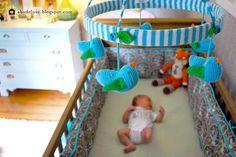 abodelove.blogspot.com #nursery #woodland #birch #stencil #mobile #fox