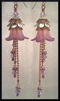 Lilac Dreams Flower Earrings by skreeminchicken on Etsy, $22.00