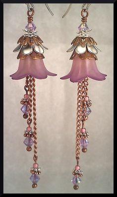Lilac Dreams Flower Earrings by skreeminchicken on Etsy, $22.00