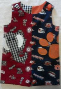 Applique House Divided Alabama Auburn Jon Jon by SeamsSewSpecial, $35.00
