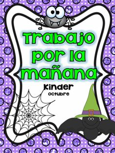October Morning Work in Spanish from Angelica Sandoval on TeachersNotebook.com -  (20 pages)  - This kindergarten morning work includes 20 pages of BASIC SKILLS such as adding up to 10 and identifying numbers when adding. Students will identify letters, initial syllables and practicing high frequency words.