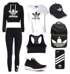 A fashion look from July 2016 by oliviayack featuring Topshop adidas and adidas Originals Teenage Outfits, Teen Fashion Outfits, Sporty Outfits, Sporty Style, Nike Outfits, Athletic Outfits, Looks Adidas, Mein Style, Cute Comfy Outfits