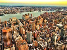 New York City - South East Side from Empire State Building to Brooklyn #SasaYork #NewYork #NYC #EmpireStateBuilding #Brooklyn #Manhattan