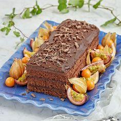 En enkel (och glutenfri!) kaka med mycket smak av choklad.