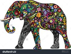 stock-vector-the-cheerful-elephant-ii-94178620.jpg (1500×1144)