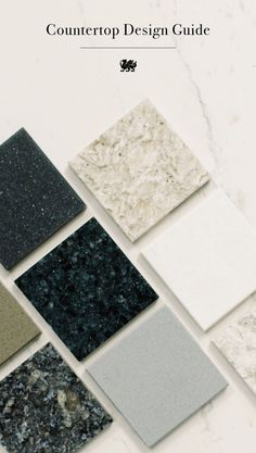 What's the best countertop design for your space? For starters, consider the mood you want to set. A textured design creates a richer environment, while a smoother design allows for a more streamlined look.
