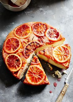 Blood orange cake.