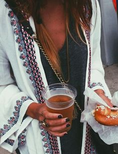 yes!!! pretzels and beers.