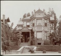 Exterior view of a large house in the Westlake District of Los Angeles, [s.d.] :: California Historical Society Collection, 1860-1960