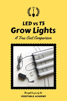 """Which grow light is actually better in the long run?  We measured the power consumption and photosynthetic light output of LED and T5 grow lights to answer this question once and for all.   Head to our online Classroom to see the full post.  Just type """"grow lights"""" in the Classroom search bar and the post will pop right up for you. Starting Vegetable Seeds, Starting Seeds Indoors, Seed Starting, Romaine Lettuce Growing, Air Cleaning Plants, Air Plants, Mosquito Repelling Plants, Online Classroom, Square Foot Gardening"""
