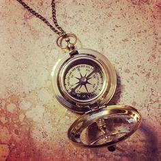 Sonnenuhr Kompass Halskette Nautik glänzenden von ayshasemporium