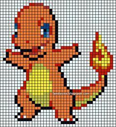 Pixel Art Templates, Perler Bead Templates, Perler Patterns, Cross Stitch Designs, Cross Stitch Patterns, Pokemon Cross Stitch, Dragon Cross Stitch, Modele Pixel Art, Pixel Art Grid
