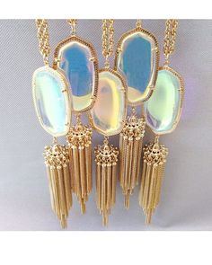 Kendra Scott Rayne Necklace in Clear Iridescent - such a pretty way to dress up any outfit!