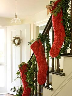 Cute idea until we get the fireplace installed. Might be a little pricey to fill those stockings!