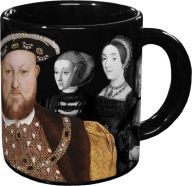 """""""Every time you fill this royal mug with a hot beverage, Henry's six queens disappear like magic, revealing their names and fates. As the mug cools, all six queens reappear so that history can repeat itself. Endlessly fascinating!""""  Coolest. Mug. Ever."""