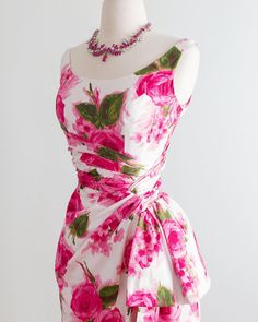 """X T A B A Y on Instagram: """"💓🌿Coming tonight at 6pm pacific time, spectacular 1950's polished cotton rose print party dress. Waist 24-25"""". Shop link in profile! 💓🌿💓🌿 .…"""" Couture Details, Party Dress, Formal Dresses, Rose, Cotton, Fashion Design, Shopping, Profile, Link"""