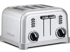 Metal Classic Toaster (4-slice): Brushed Stainless by Cuisinart, $69.99