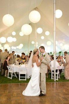 wedding tent decor backyard-weddings  Kinda would like it in a tent outside my favorite church