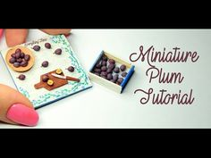 Hello my dear followers :* I am sooo glad to share with you my super cute,miniature,polymer clay plum tutorial :D I was thinking to make some Valentine's Day...