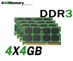16gb #[4x4gb] ram memory for #apple imac #pc3-8500 ddr3 1066mhz sodimm,  View more on the LINK: http://www.zeppy.io/product/gb/2/351562359485/