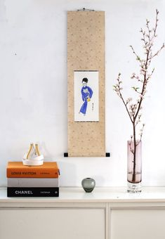 Fashion Wall Art, Working Woman, Japanese Kimono, Ink Painting, Kimono Fashion, Etsy, Women, Woman