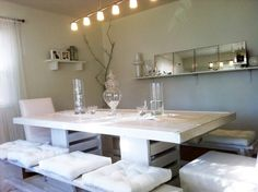 7 foot shabby chic Farmhouse Dining Room Set. $739.00, via Etsy. 84 x 38