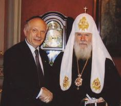 Moscow 2006 - At the World Summit of Religious Leaders Conference in Moscow, Patriarch Aleksy II, Rabbi Arthur Schneier and the ACF (Appeal of Conscience Foundation) discuss joint initiatives to promote peace and interreligious cooperation.