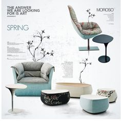 Spring with Moroso by nyrvelli on Polyvore featuring interior, interiors, interior design, home, home decor, interior decorating, MOROSO, Spring and Moroso
