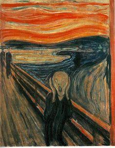 El Grito Usando óleo y pastel sobre cartón, Edvard Munch pintó su obra más famosa, El Grito, hacia 1893. Ofrece una figura fantasmal que se parece al anfitrión de Historias de la Cripta, el fondo de esta pintura expresionista se dice que es Oslo, Noruega.