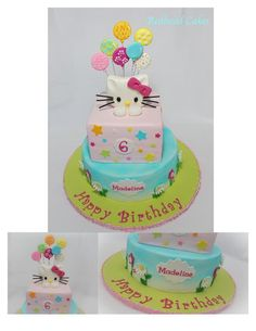 Hello Kitty Cake  Cupcakes By DREAMS IN SUGAR BAKERY Roseville - Birthday cakes roseville ca
