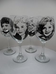 These Wine Glasses | 33 Insanely Amazing Golden Girls Crafts For Sale On Etsy