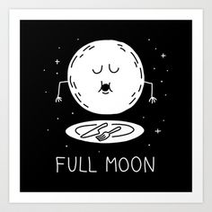 Full Moon Art Print by Dom Friday