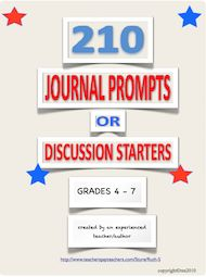 Looking for new journal prompts or discussion starters that kids relate to? Download this FREE packet of 210 starters. To date there have been over 48,000 downloads!