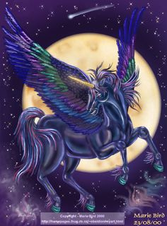 Unicorn of the Night by ValkyrieNZ on DeviantArt
