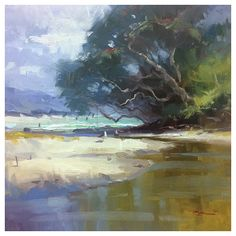 Plein art painting & video with New Zealand artist Richard Robinson