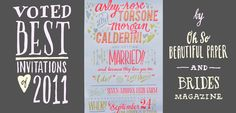 Ladyfingers Letterpress- this website has the most beautiful invitation lettering