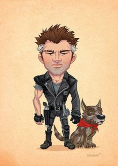 MAD MAX Caricature Art by Tim Odland