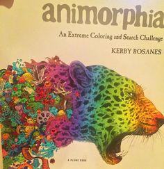"""#animorphia #leopard #rainbow #danztangle #coloringbook #coloringbookforadults #adultcoloringbook #detailed #intricatedrawing #intricatedesign #design…"""