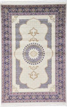$499 Cream 6' 6 x 9' 10 Tabriz Design Rug   Area Rugs   eSaleRugs