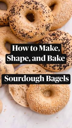 Sourdough Bagels, Sourdough Recipes, Bread Recipes, Tasty Bread Recipe, Basic Butter Cookies Recipe, Homemade Bagels, Vegan Recipes, Cooking Recipes, Breads