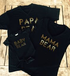 Mama Bear Shirt, Papa Bear Shirt, Baby Bear Onesie Family T - Shirts, Made by Thinkelite1