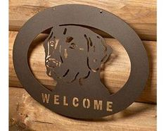 A Labrador welcome sign, no jumping or sloppy kisses.