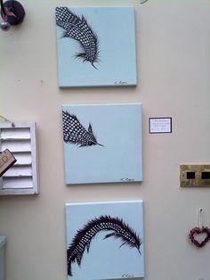 Set of Three Feathers Originals