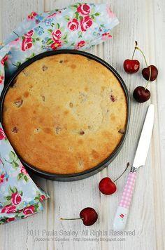 summer cherry meringue cake