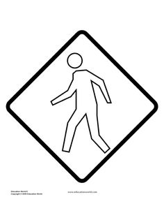 Coloring Page Street Signs