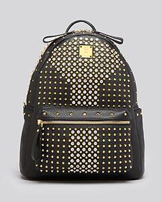 Mcm Backpack - Stark Special Medium Crystal-Handbags